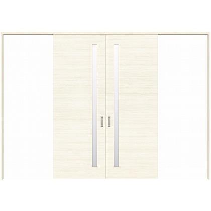 住友林業クレスト 長尺引き戸 サイドスリット1枚ガラス横目 ベリッシュホワイト柄 枠外W3259×枠外H2300 HBATK05HAWC258JS3 内装建具 1セット