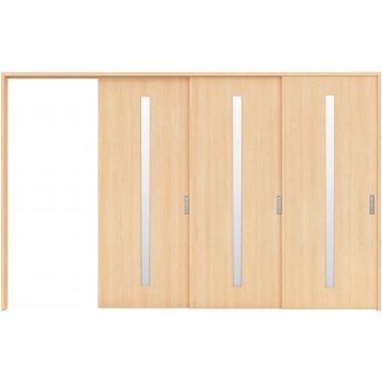 住友林業クレスト 長尺引き戸 スリット1枚ガラス縦目 ベリッシュメイプル柄 枠外W3233×枠外H2032 HBATK02HAMC267JS3R 内装建具 1セット