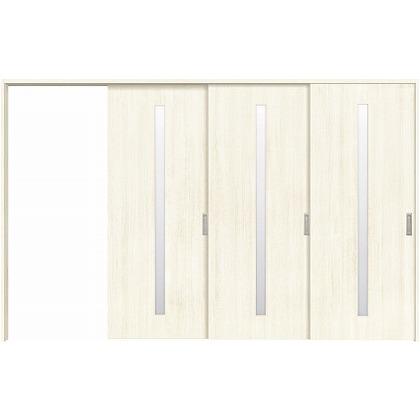 住友林業クレスト 長尺引き戸 スリット1枚ガラス縦目 ベリッシュホワイト柄 枠外W3233×枠外H2300 HBATK02HAWA268JS3R 内装建具 1セット