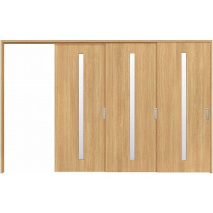 住友林業クレスト 長尺引き戸 スリット1枚ガラス縦目 ベリッシュオーク柄 枠外W3233×枠外H2300 HBATK02HAA3968JS3L 内装建具 1セット