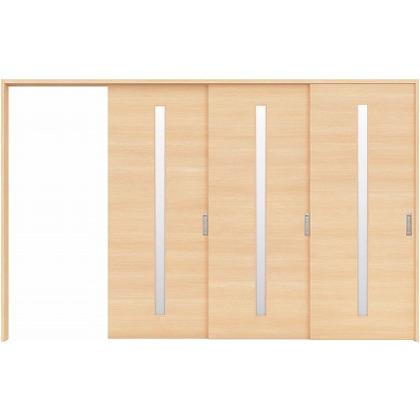 住友林業クレスト 長尺引き戸 スリット1枚ガラス横目 ベリッシュメイプル柄 枠外W3233×枠外H2032 HBATK03HAMD267JS3L 内装建具 1セット