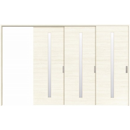 住友林業クレスト 長尺引き戸 サイドスリット1枚ガラス縦目 ベリッシュホワイト柄 枠外W3233×枠外H2032 HBATK04HAWE267JS3L 内装建具 1セット