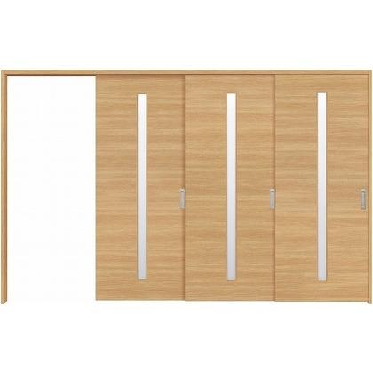 住友林業クレスト 長尺引き戸 サイドスリット1枚ガラス縦目 ベリッシュオーク柄 枠外W3233×枠外H2032 HBATK04HAAE267JS3L 内装建具 1セット