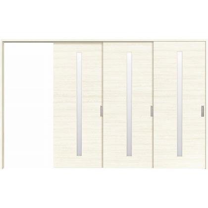 住友林業クレスト 長尺引き戸 サイドスリット1枚ガラス縦目 ベリッシュホワイト柄 枠外W3233×枠外H2032 HBATK04HAW3967JS3R 内装建具 1セット