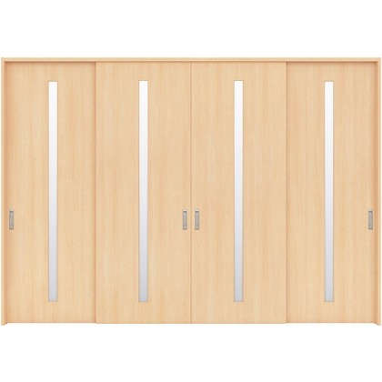 住友林業クレスト 長尺引き戸 スリット1枚ガラス縦目 ベリッシュメイプル柄 枠外W3259×枠外H2032 HBATK02HAM3777JS3 内装建具 1セット