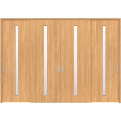 住友林業クレスト 長尺引き戸 スリット1枚ガラス縦目 ベリッシュオーク柄 枠外W3259×枠外H2300 HBATK02HAAD278JS3 内装建具 1セット