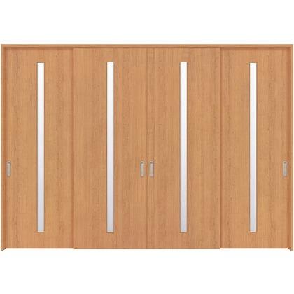 住友林業クレスト 長尺引き戸 スリット1枚ガラス縦目 ベリッシュチェリー柄 枠外W3259×枠外H2300 HBATK02HACE278JS3 内装建具 1セット