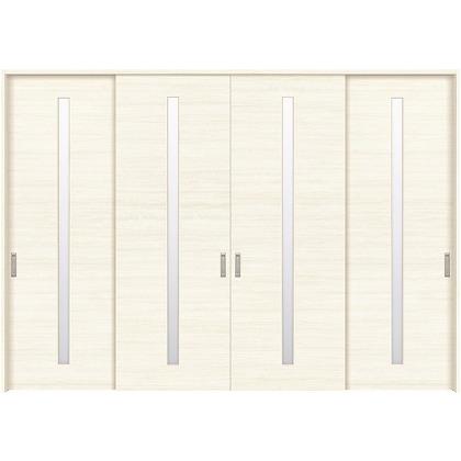住友林業クレスト 長尺引き戸 スリット1枚ガラス横目 ベリッシュホワイト柄 枠外W3259×枠外H2300 HBATK03HAW3778JS3 内装建具 1セット