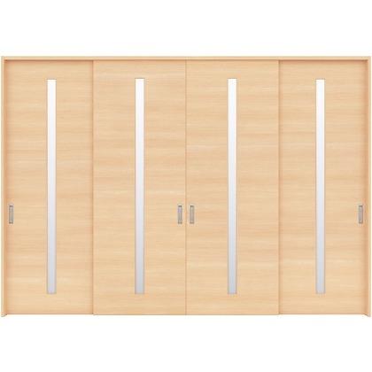 住友林業クレスト 長尺引き戸 サイドスリット1枚ガラス縦目 ベリッシュメイプル柄 枠外W3259×枠外H2032 HBATK04HAMC277JS3 内装建具 1セット