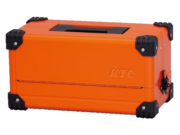 KTC 2019SK 両開きメタルケース(ブライトオレンジ)(特別色) ブライトオレンジ アタッシュケース EK-10ABR 1個