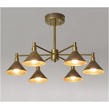 シバタ照明 インダストリアルライト 真鍮生地6灯シーリングライト 照明プレート 1台