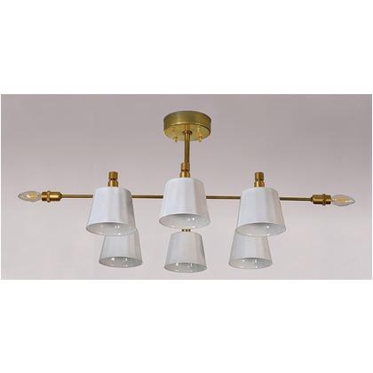 シバタ照明 インダストリアルライト 真鍮生地8灯シーリングライト 照明プレート 1台