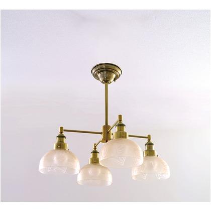 シバタ照明 インダストリアルライト 真鍮ブロンズメッキ4灯シーリングライト(ランプ別売) 照明プレート 1台