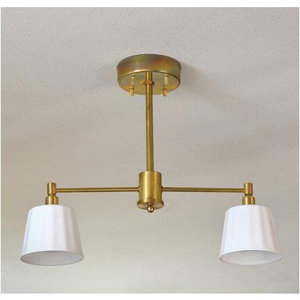 シバタ照明 インダストリアルライト 真鍮生地2灯ペンダントライト 照明プレート 1台