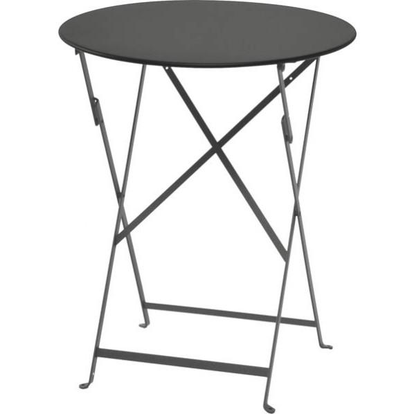 ビストロ ビストロ ラウンドテーブル600 ダークグレー ガーデンテーブル・チェア 650211910 1台