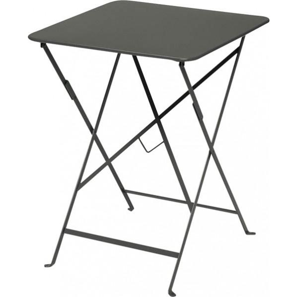 ビストロ ビストロ スクエアテーブル570 ダークグレー ガーデンテーブル・チェア 650212510 1台