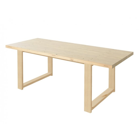 DIY FACTORY Conference Table 天板:無塗装 / 脚:クリア塗装 W1800 D800 H700 1セット