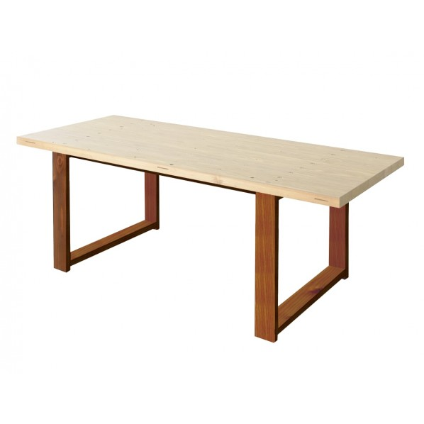 DIY FACTORY Conference Table 天板:無塗装 / 脚:ブラウン W1600 D800 H700 1セット