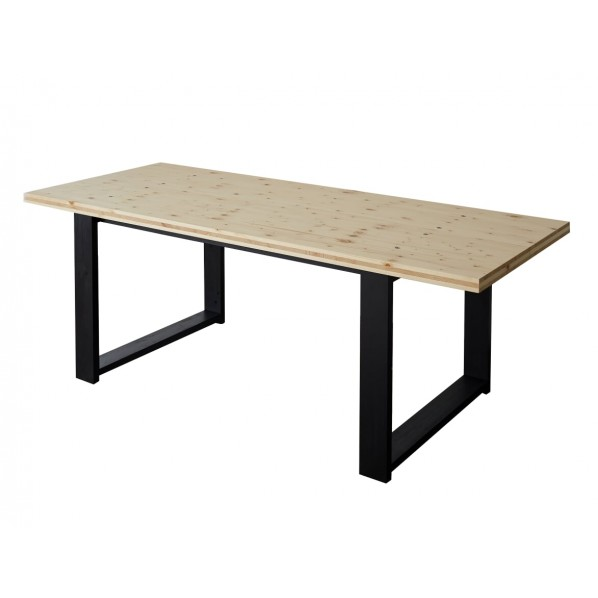 DIY FACTORY Conference Table 天板:クリア塗装 / 脚:ブラック W1800 D800 H700 1セット