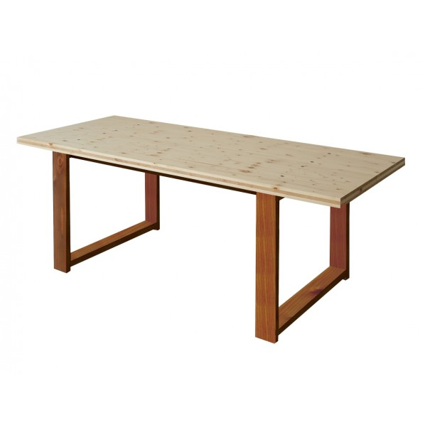 DIY FACTORY Conference Table 天板:クリア塗装 / 脚:ブラウン W1500 D800 H700 1セット