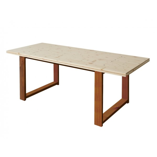 DIY FACTORY Conference Table 天板:無塗装 / 脚:ブラウン W1400 D800 H700 1セット
