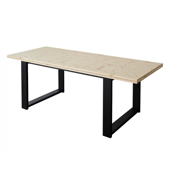 DIY FACTORY Conference Table 天板:無塗装 / 脚:ブラック W1400 D800 H700 1セット
