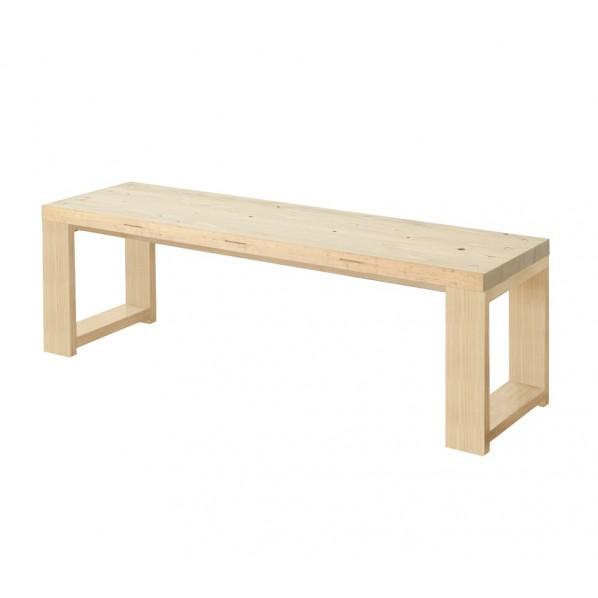 DIY FACTORY Bench 天板:無塗装 / 脚:クリア塗装 W1200 D400 H430 1セット