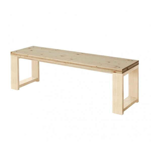 DIY FACTORY Bench 天板:クリア塗装 / 脚:無塗装 W1100 D400 H430 1セット