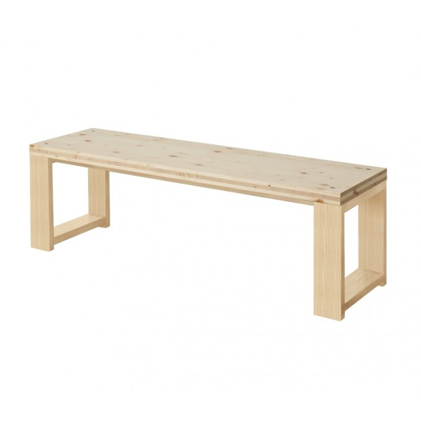 DIY FACTORY Bench 天板:無塗装 / 脚:クリア塗装 W1000 D400 H430 1セット