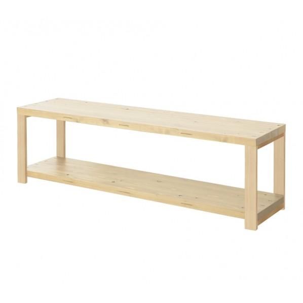 DIY FACTORY AV Board 天板:無塗装 / 脚:クリア塗装 W1400 D400 H467 1セット