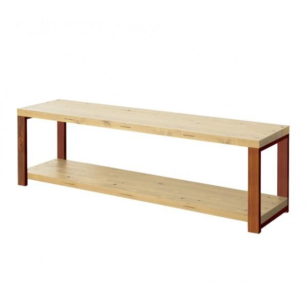 DIY FACTORY AV Board 天板:クリア塗装 / 脚:ブラウン W1200 D400 H467 1セット