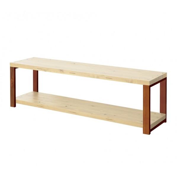 DIY FACTORY AV Board 天板:無塗装 / 脚:ブラウン W800 D400 H467 1セット