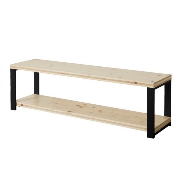 DIY FACTORY AV Board 天板:無塗装 / 脚:ブラック W1500 D400 H467 1セット