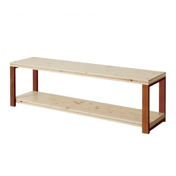 DIY FACTORY AV Board 天板:無塗装 / 脚:ブラウン W1400 D400 H467 1セット