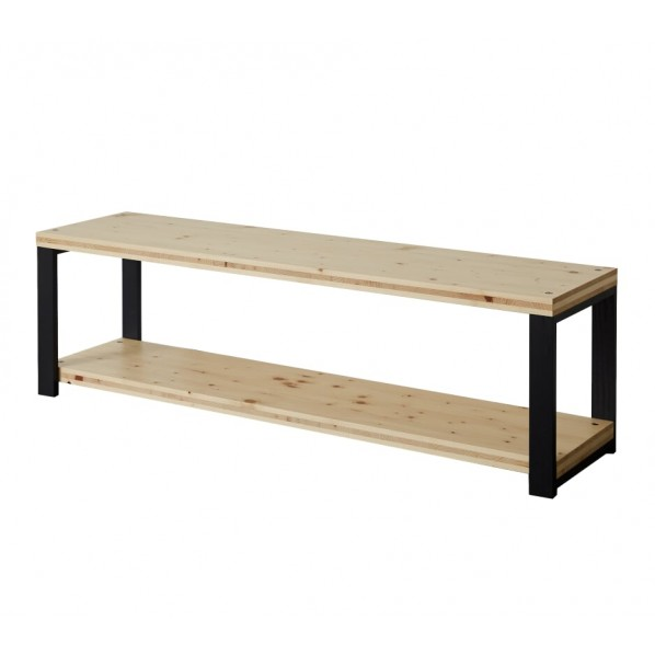 DIY FACTORY AV Board 天板:クリア塗装 / 脚:ブラック W1200 D400 H467 1セット