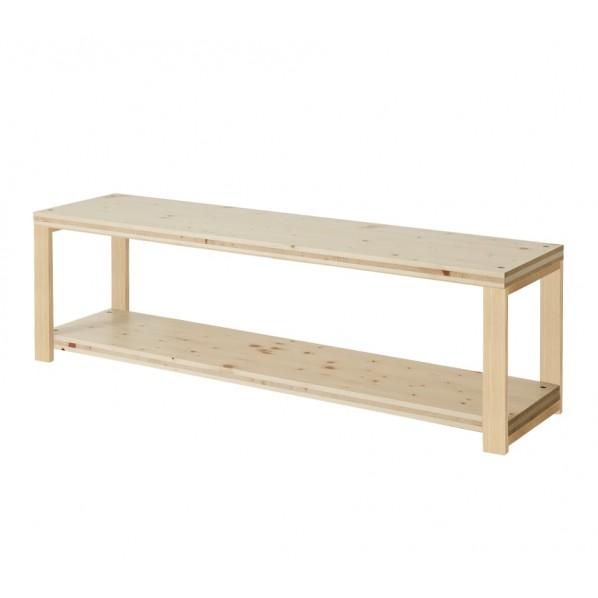 DIY FACTORY AV Board 天板:無塗装 / 脚:クリア塗装 W1100 D400 H467 1セット