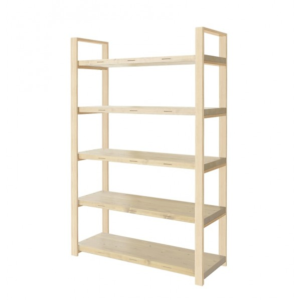 DIY FACTORY Wooden Shelf 天板:無塗装 / 脚:無塗装 W900 D400 H1813 1セット