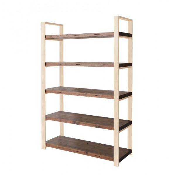 DIY FACTORY Wooden Shelf 天板:ブラウン / 脚:無塗装 W700 D400 H1813 1セット