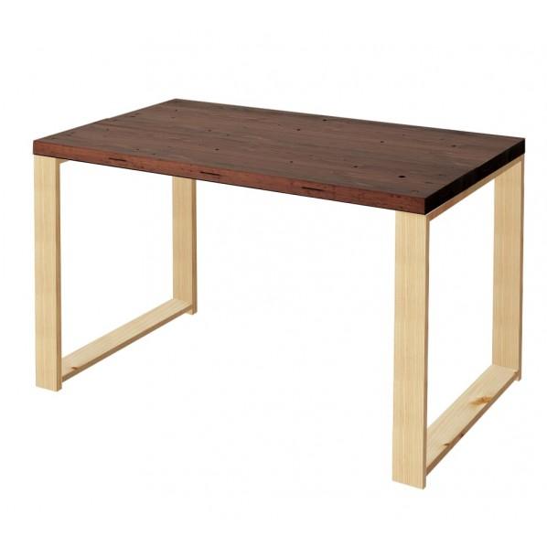 DIY FACTORY Working Desk 天板:ブラウン / 脚:クリア塗装 W900 D700 H700 1セット