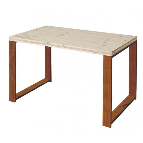 DIY FACTORY Working Desk 天板:無塗装 / 脚:ブラウン W1100 D700 H700 1セット