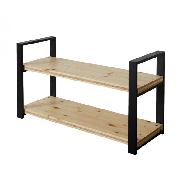 【返品送料無料】 DIY Shelf FACTORY Wooden Shelf 天板:クリア塗装// 脚:ブラック W1100 W1100 D400 H658 1セット, イヴァンカ:08aab2ce --- mundoacademico.com.co