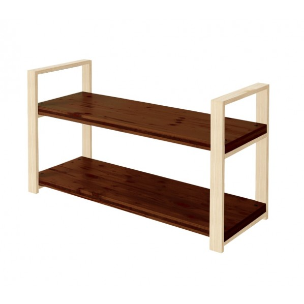 DIY FACTORY Wooden Shelf 天板:ブラウン / 脚:無塗装 W1100 D400 H658 1セット