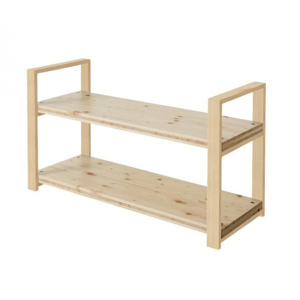 DIY FACTORY Wooden Shelf 天板:無塗装 / 脚:クリア塗装 W1000 D400 H658 1セット