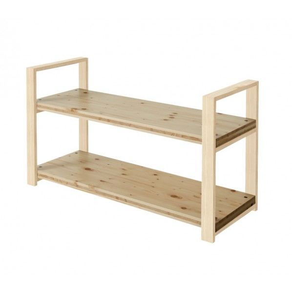 DIY FACTORY Wooden Shelf 天板:クリア塗装 / 脚:無塗装 W1000 D400 H658 1セット