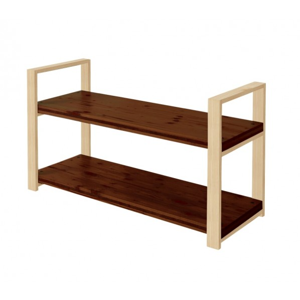 DIY FACTORY Wooden Shelf 天板:ブラウン / 脚:クリア塗装 W1000 D400 H658 1セット
