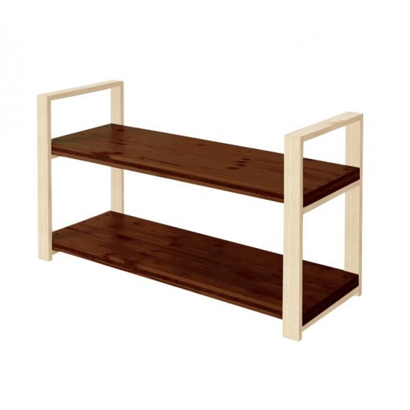 【史上最も激安】 DIY FACTORY Wooden Shelf H658 天板:ブラウン 脚:無塗装/ 脚:無塗装 DIY W900 D400 H658 1セット, 桶本家具店:a5843828 --- mundoacademico.com.co