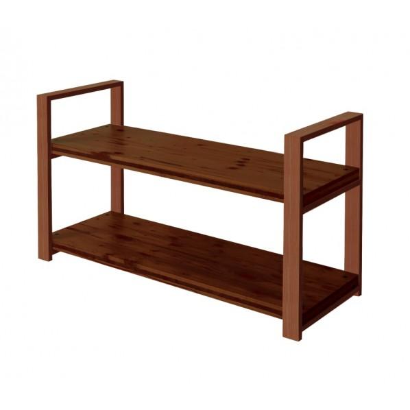 DIY FACTORY Wooden Shelf 天板:ブラウン / 脚:ブラウン W900 D400 H658 1セット