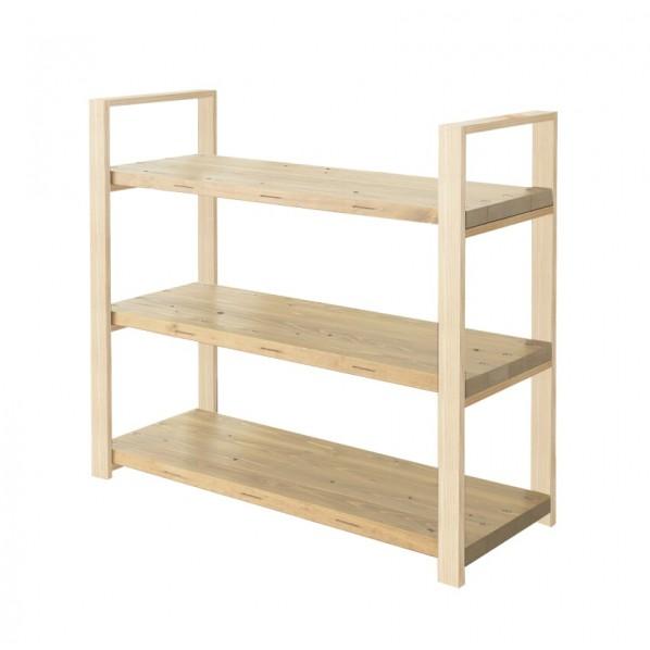 DIY FACTORY Wooden Shelf 天板:クリア塗装 / 脚:無塗装 W1000 D400 H1043 1セット