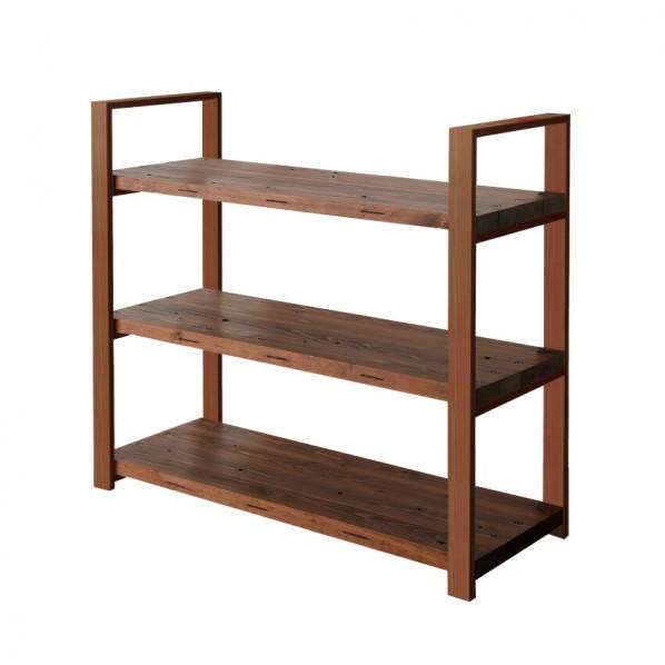 DIY FACTORY Wooden Shelf 天板:ブラウン / 脚:ブラウン W1000 D400 H1043 1セット