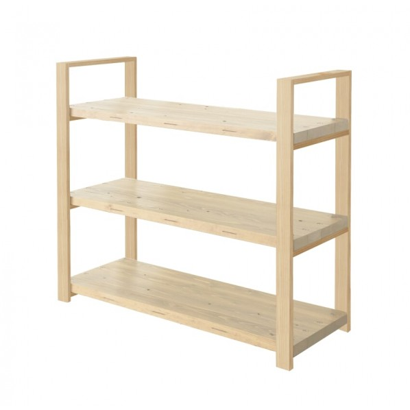 DIY FACTORY Wooden Shelf 天板:無塗装 / 脚:クリア塗装 W900 D400 H1043 1セット